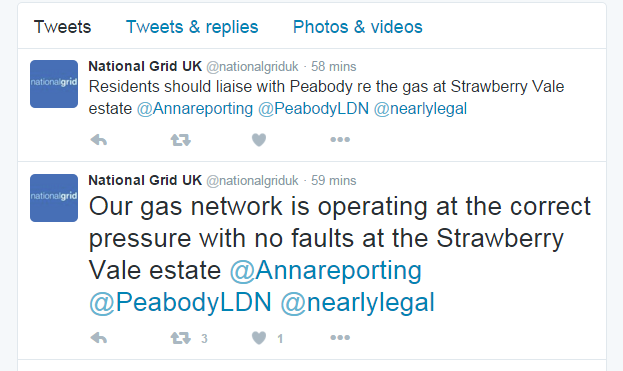 National Grid tweets